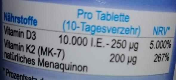 Vitamin D3 & K2 gegen Erkältung (Ergänzungsmittel)?