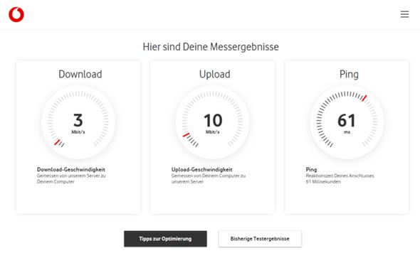 Aktuelle Störung Vodafone