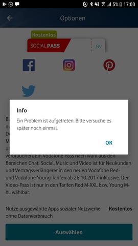 Vodafone Pass Fehler Handy Smartphone Vodafone Vertrag