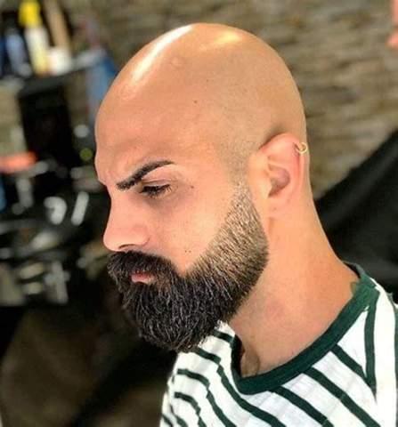 Bart übergang glatze 40 Bart