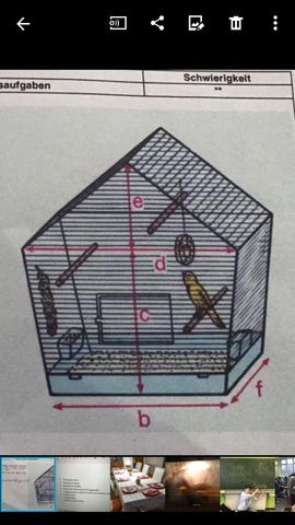volumen und oberfl che von einem vogelk fig berechnen. Black Bedroom Furniture Sets. Home Design Ideas