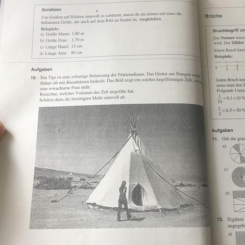 Volumen von diesem Zelt ausrechnen - Wie mache ich das?