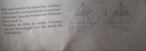 die Aufgabe - (Mathematik, Volumen, pyramide)