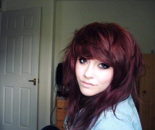 Farbe Nach Streichen Fleckig: Von Blau Auf Rot-braun-obergine Haarfarbe O: (Haare, Farbe