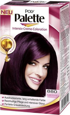 Haarfarben palette violett