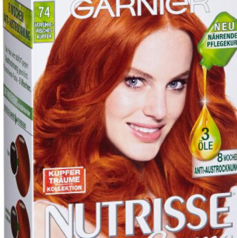 Kupfer haare caramel farben