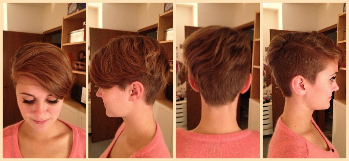 Von Langen Haaren Zum Sidecut Frisur