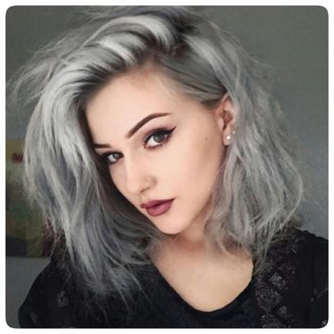 Von Pastell Blaulila Auf Dunkel Graue Haare Directions