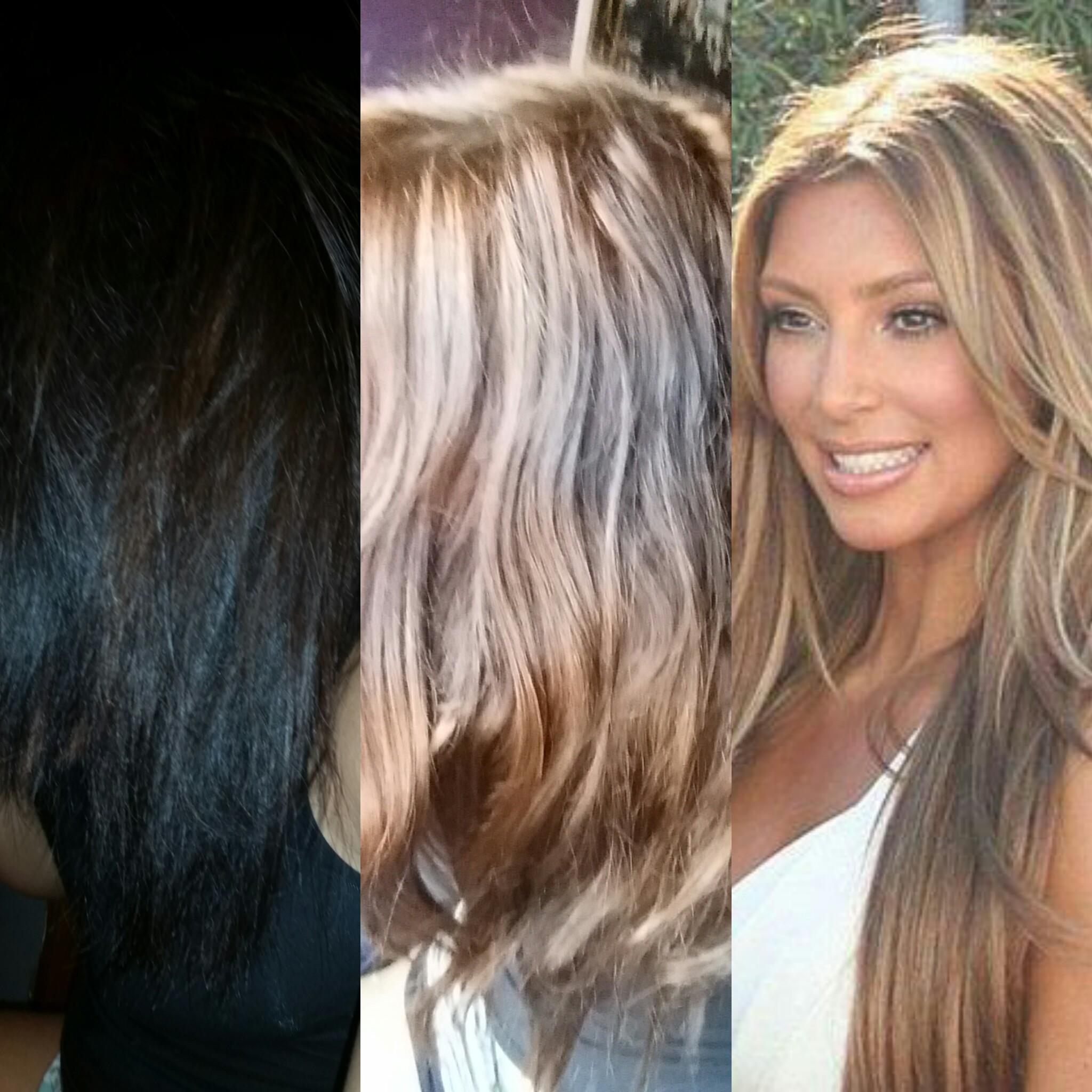 Haarfarbe in klamotten