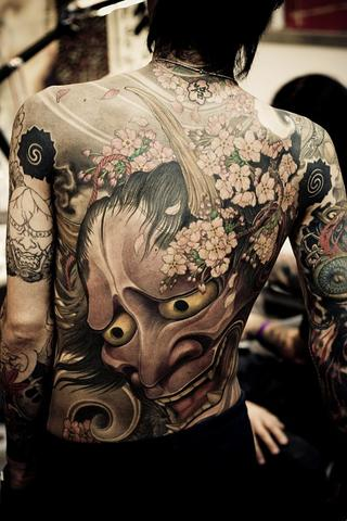 Rücken Tattoo Hannya Maske - (Tattoo, Künstler, Maske)