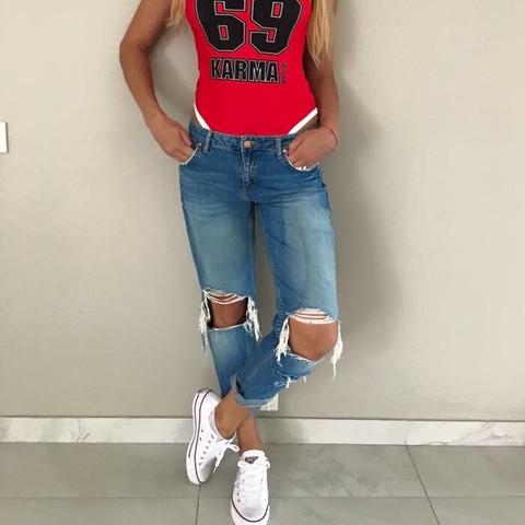 Bild 2 - (Jeans, Used look, Ripped Jeans)