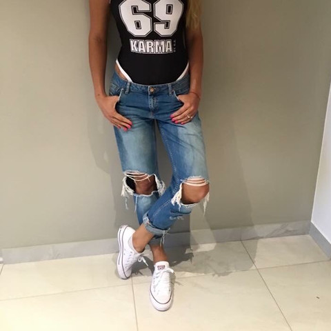 Bild 4 - (Jeans, Used look, Ripped Jeans)