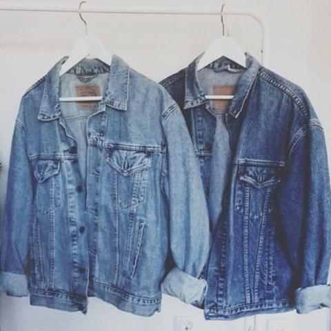 Weite jeansjacken