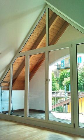 vorhänge bei doppelter dachschräge mit spitzen verlauf (arbeit, Innenarchitektur ideen