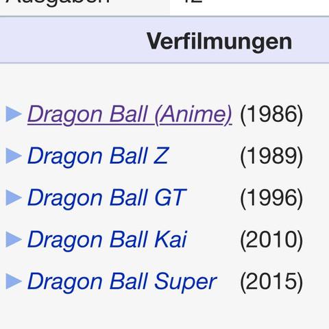 HIER ALLE DRAGONBALL SERIEN AUFGEZÄHLT, FRAGE OBEN - (Anime, Dragonball, Son-Goku)