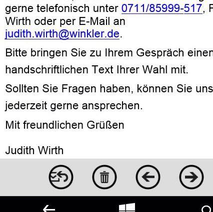 hier ist die email die ich bekommen hab deutsch bewerbung text - Bewerbung Vorstellungsgesprch