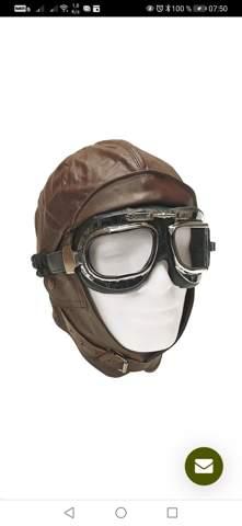 Vorteil Lederhaube und Pilotenbrille gegenüber normalem Helm?