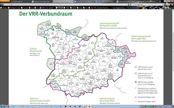 Der VRR - (VRR, Region, zusatzticket)