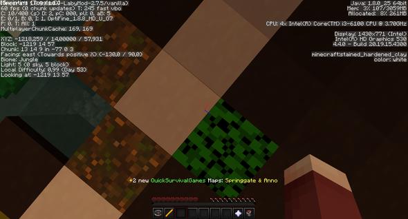 60 FPS ._. (SELBST BEI 2CHUNK) - (Minecraft, vsync)