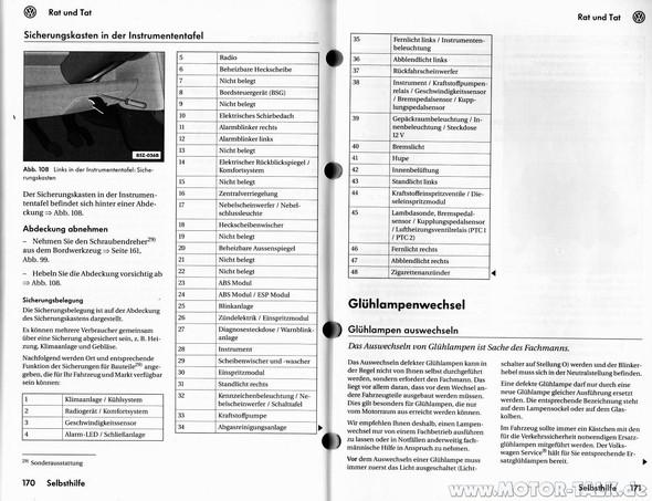 VW FOX Sicherungskasten - (Auto, Reparatur)