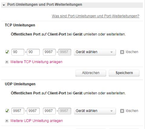Ports - (Teamspeak, Ports freigeben, 724v)