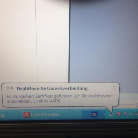 Ich kann auch nicht einfach das W-LAN Passwort eingeben! - (Computer, Windows XP, W-Lan)