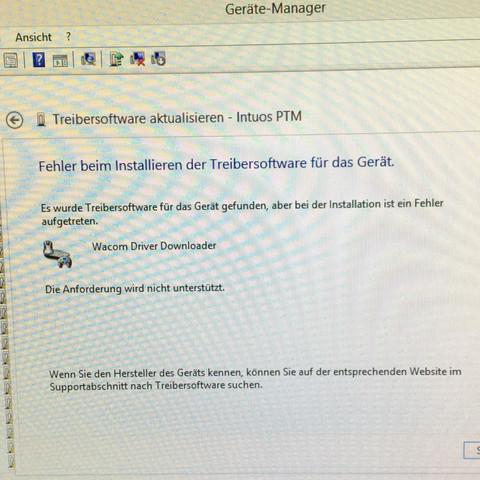 Geräte manager - (Treiber, Grafiktablett, Win 8)