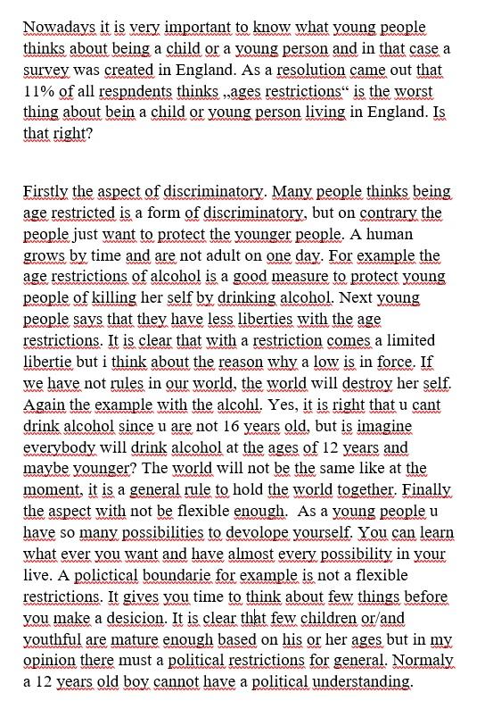 Englisch Comment Schreiben