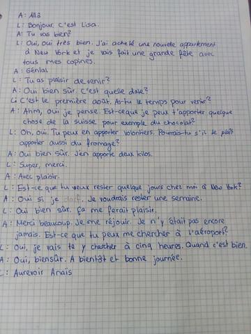 Franz Dialog - (Sprache, Grammatik, französisch)