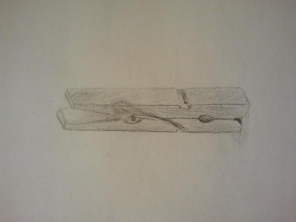 Gezeichnete Wäscheklammer   (zeichnen, Bewertung, Wäscheklammer)