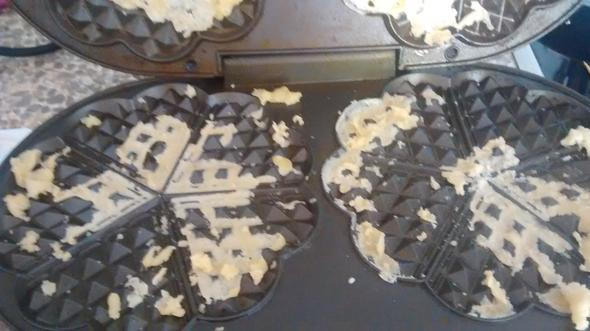 waffeleisen mit festklebendem teig - (Haushalt, Kochen, Teig)