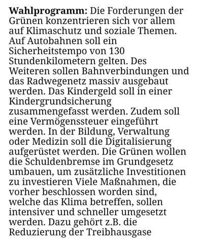 Wahlprogramm der Bündnis 90, Grammatik/Satzbau/..?