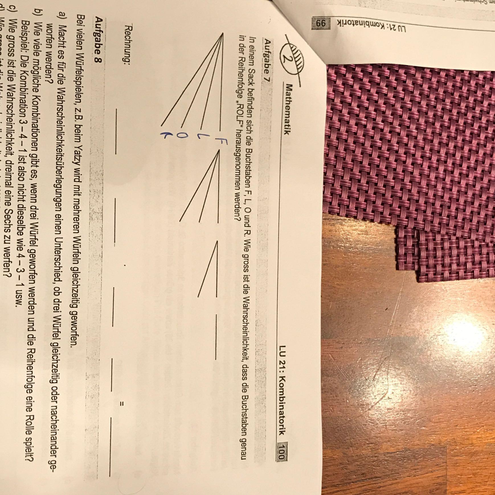 Ausgezeichnet 7. Klasse In Mathe Wahrscheinlichkeit Arbeitsblatt ...
