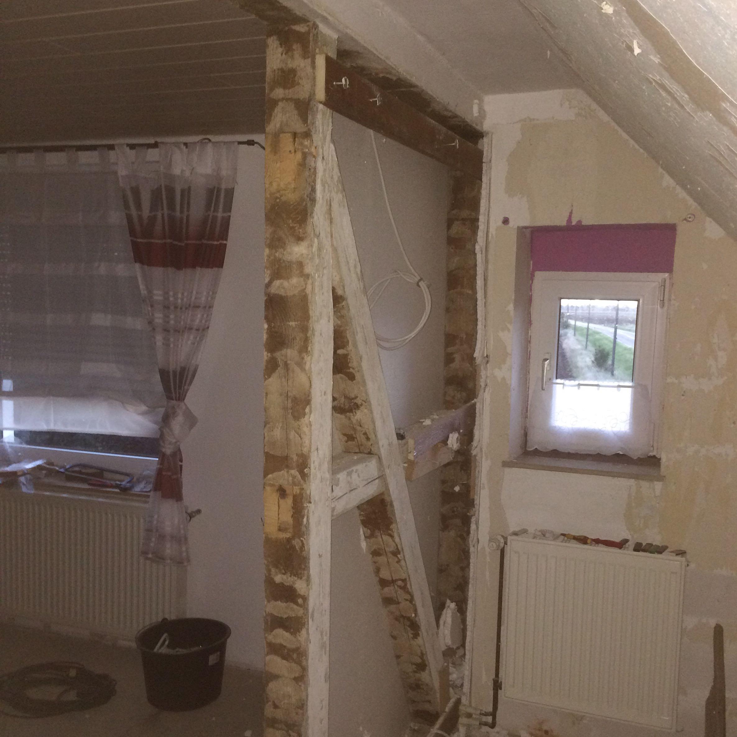 wand im dachgeschoss entfernen was muss ich dabei. Black Bedroom Furniture Sets. Home Design Ideas