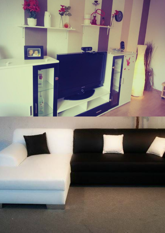 wandfarbe mit wei schwarzen m beln wohnung haus farbe. Black Bedroom Furniture Sets. Home Design Ideas