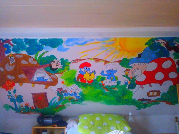 Wandmalerei im schlafzimmer ideen for Wandmalerei ideen
