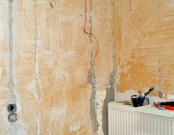 Wand Untergrund   (heimwerken, Renovierung, Streichen)