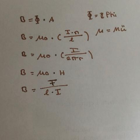 Formeln  - (Physik, Formel, Flussdichte)