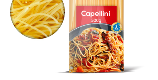 Wann die ganz dünnen Spaghetti verwenden , die Capellini.......Auch mit großen Beilagen ?