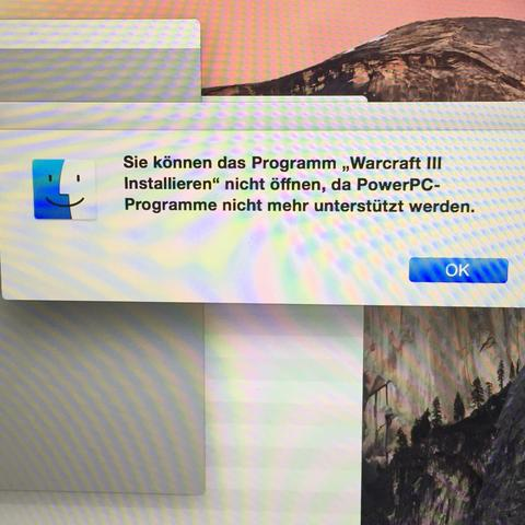 Fehlermeldung - (Macbook, MacBook Pro, Warcraft)