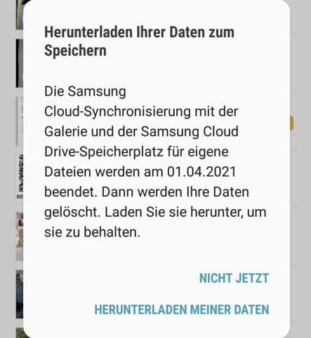 Samsung Cloud Daten Werden Gelöscht