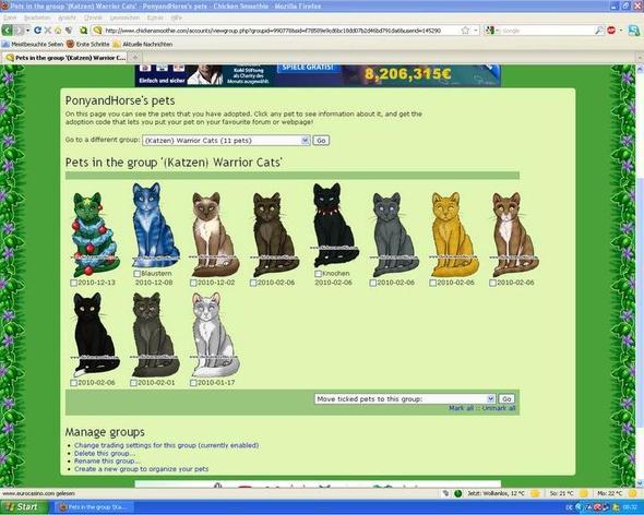 Meine Katzen zum benennen - (Spiele, online, Katzen)