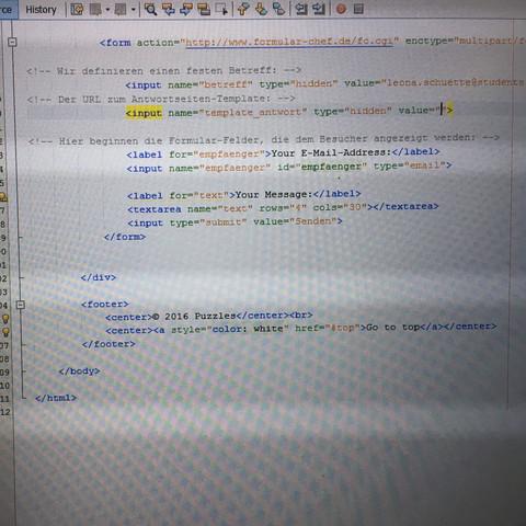 Bisheriger Code - (Informatik, E-Mail, html)