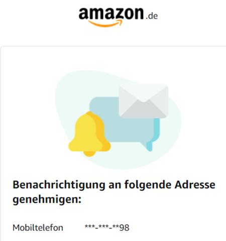 Warum bekomme ich von Amazon immer wieder diese Benachrichtigung?