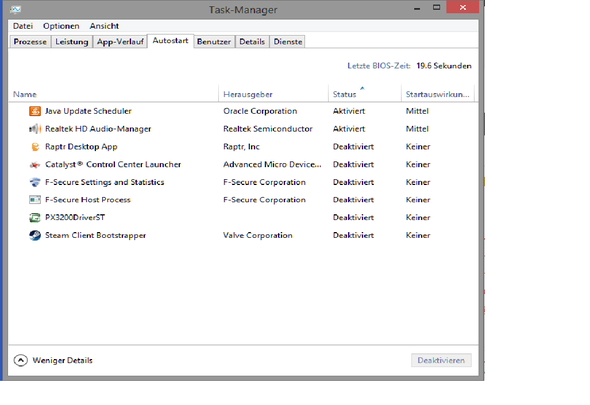 Autostart  > Taskmanager - (Computer, PC, Zeit)