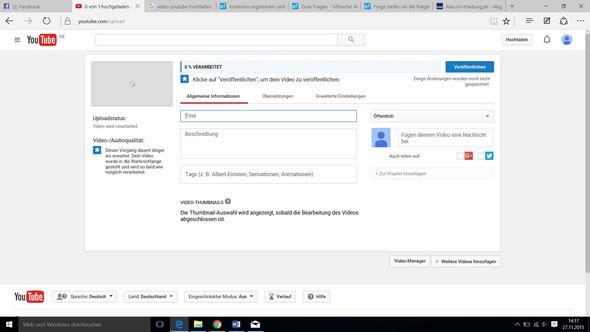 Hier mein Bildschirm - (Youtube, Video)