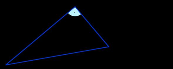 Warum ergeben AC mal BC = 0 bei diesem Dreieck?