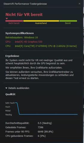 Warum erkennt der SteamVR Performance Test meine Grafikkarte nicht?