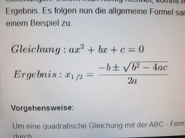 Warum findet man mit der ABC Formel die Lösung 0 heraus?