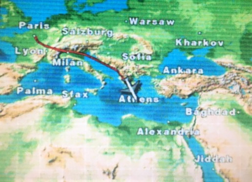 Warum fliegt ein Flugzeug keine geradlinige Strecke?
